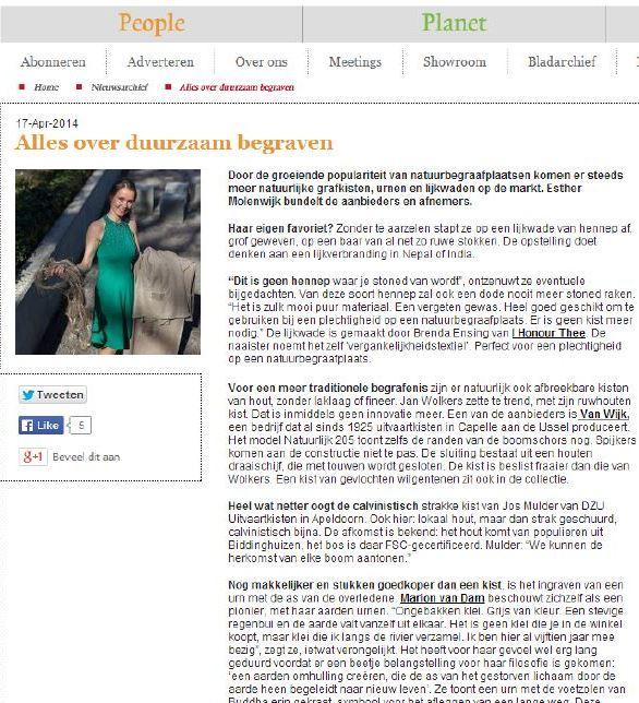 Bureau DaadWerk - Alles over duurzaam begraven - PPlus